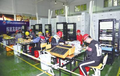 <a href='http://www.yyq16.com/html/fwxm/wlgc' target='_blank'><u>网络</u></a>布线技能大赛在济南电子机械学校开赛