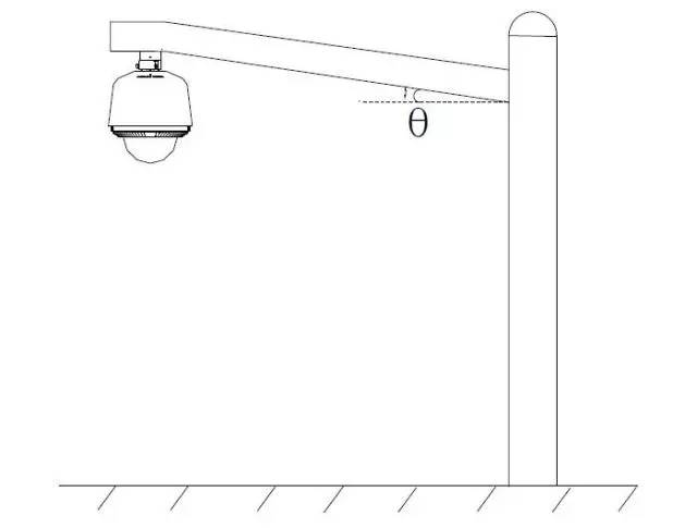 球机立杆支架安装示意图